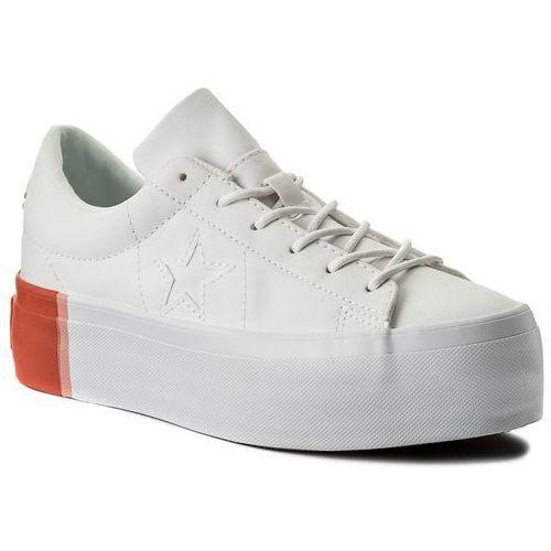 51f7ad7cc3807 Sneakersy - one star platform ox 559904c white bright poppy white