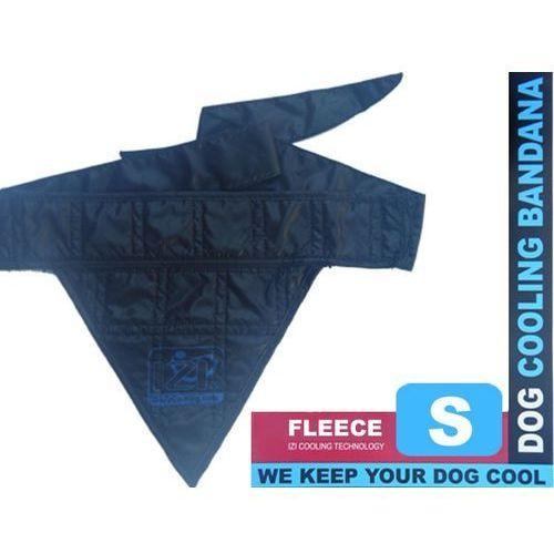 Izibodycooling Czarna bandamka dla psów z wełną chłodzącą rozmiar s