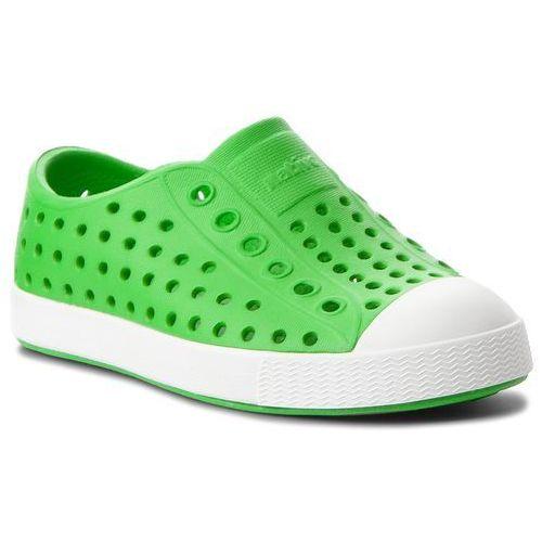 Trampki NATIVE - Jefferson 13100100-3600 Grasshopper Green/Shell White, kolor zielony
