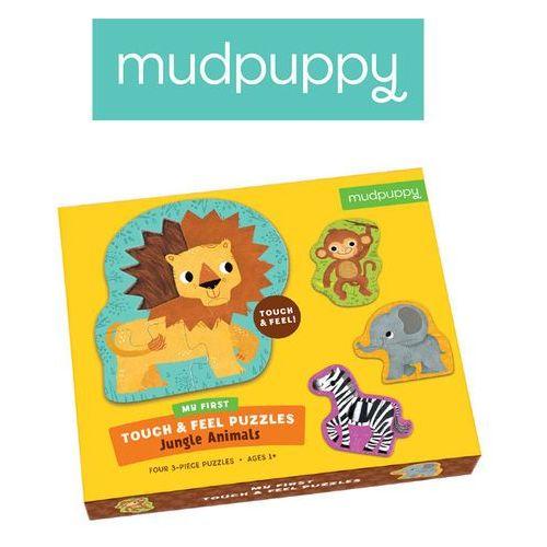 Mudpuppy puzzle sensoryczne zwierzęta dżungli 1+