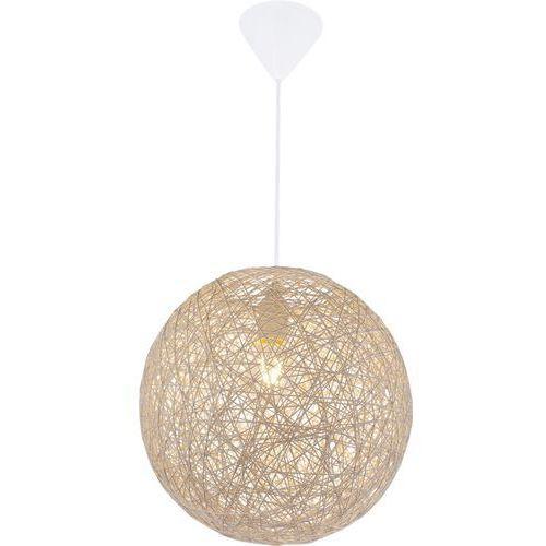 Globo Lampa wisząca coropuna 15252b lampa sufitowa zwis 1x60w e27 biała / beżowa (9007371362066)