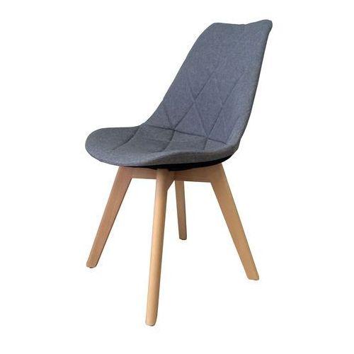 Exitodesign Krzesło tapicerowane karo wood grey