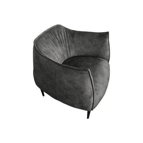 Fotel FATTY ALCANTARA ciemny szary - alcantara, podstawa stal (5900000045610)