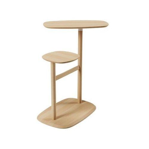 Umbra - stolik lexy - biały/drewno naturalne