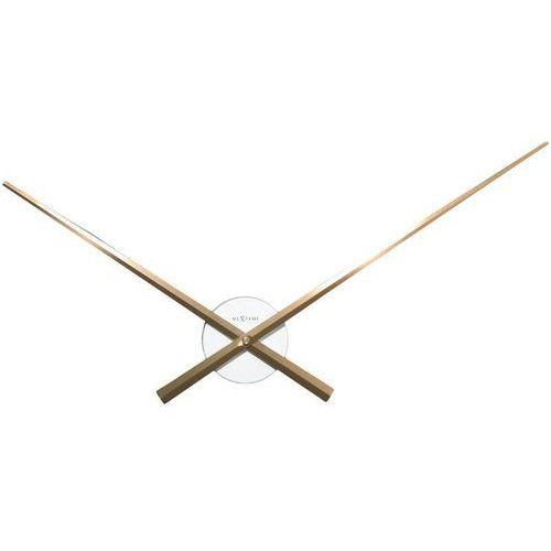 NeXtime Zegar ścienny biało - miedziany - 'Hands', kolor biały
