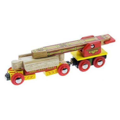 Bigjigs toys Wagon do naprawy torów do zabawy, wyposażenie kolejek drewnianych bigjigs
