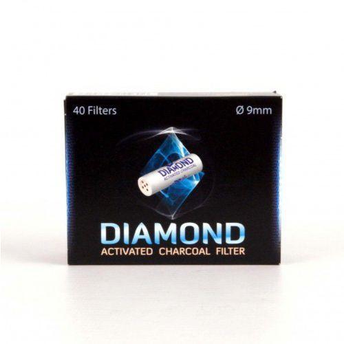 Mr bróg Filtr fajkowy węglowy 9 mm filtry do fajki diamond 40 szt
