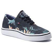 Tommy hilfiger Sneakersy - seasonal print oxford sneaker fm0fm02461 midnight 403