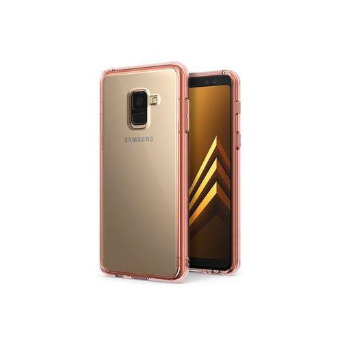Ringke Samsung galaxy a8 (2018) - etui na telefon fusion - różowy