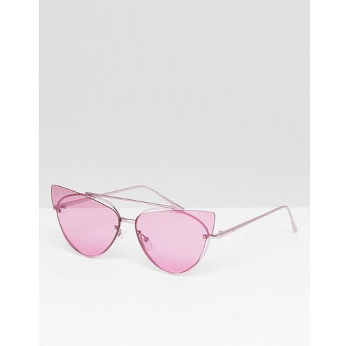 Asos design cat eye sunglasses with laid on extreme lens - purple