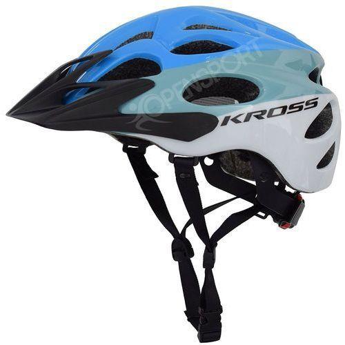 Kross Kask rowerowy kalmo l 58-61cm niebieski / biały