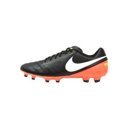 Nike Performance TIEMPO GENIO II FG Korki Lanki black/white/hyper orange/volt z kategorii Piłka nożna