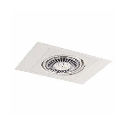 Wpust LAMPA sufitowa MUKO H 3356/GU10/BI Shilo podtynkowa OPRAWA prostokątna OCZKO regulowane białe, kolor biały;czarny