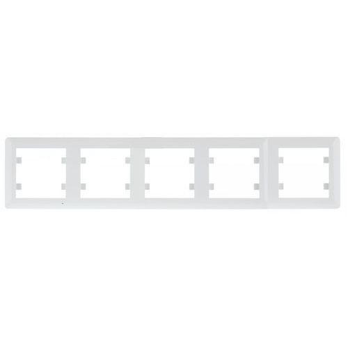 Hager polo lumina 2 ramka 5-krotna pozioma, biały wl5250