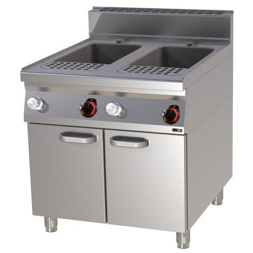 Redfox Urządzenie do gotowania makaronu i pierogów elektryczne, wolnostojące, dwukomorowe 2x 40 l, 24 kw, 800x900x900 mm   , linia 900, vt90/80e