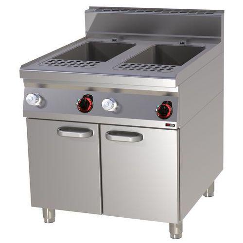 Urządzenie do gotowania makaronu i pierogów elektryczne, wolnostojące, dwukomorowe 2x 40 l, 24 kW, 800x900x900 mm   REDFOX, Linia 900, VT90/80E