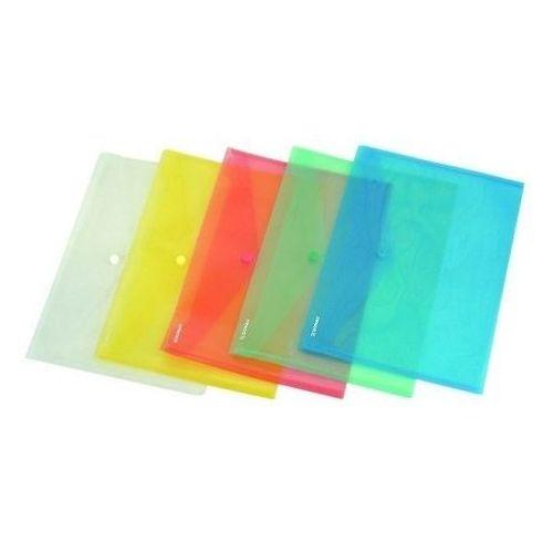 Teczka kopertowa PP na zatrzask C5 w transparentnych kolorach DONAU ekologiczna, NB-1396