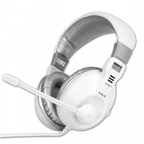 Słuchawki z mikrofonem E-Blue Conqueror I Białe Darmowy odbiór w 20 miastach!