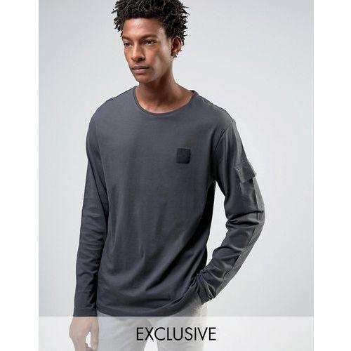 gazer long sleeve t-shirt terry pocket - black marki Cheap monday
