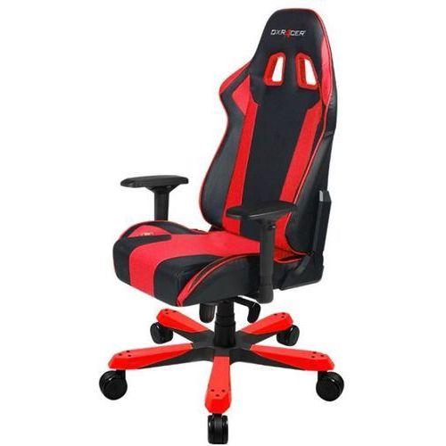 fotel gamingowy ks06/nr, czarny/czerwony (ks06/nr) marki Dxracer