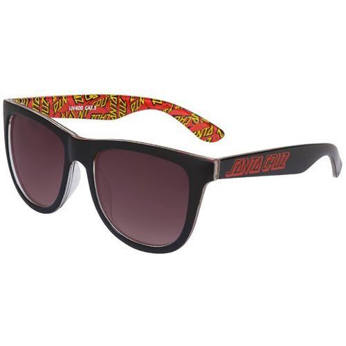 Okulary słoneczne - multi classic dot sunglasses black (black) rozmiar: os marki Santa cruz