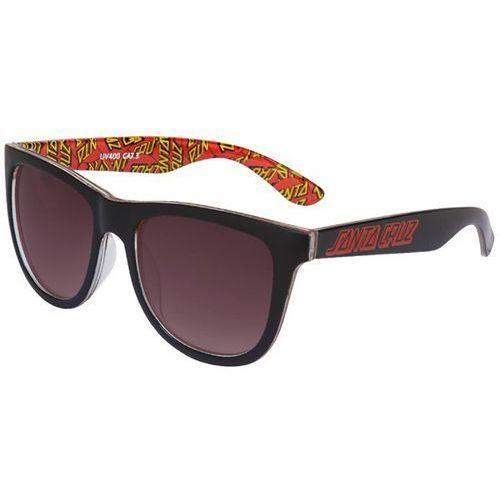 Santa cruz Okulary słoneczne - multi classic dot sunglasses black (black) rozmiar: os