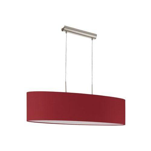 Lampa wisząca pasteri 94904 abażurowa oprawa zwis czerwony marki Eglo