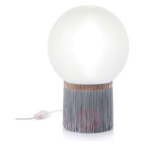 Slamp Atmosfera lampa stołowa Fringe, Ø 30cm szara (8024727080741)