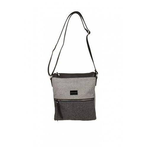 Filcowa torebka w odcieniach szarości - Anataka