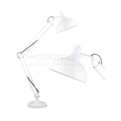 Stojąca LAMPA podłogowa ADELAIDA 1201102 Spotlight industrialna OPRAWA regulowana loft biała