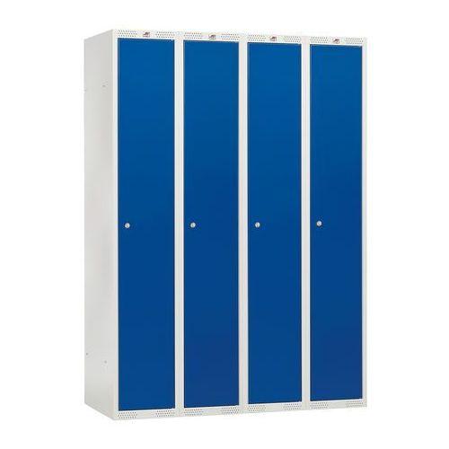 Aj produkty Szafa ubraniowa classic, 4 moduły, 1740x1200x550 mm, niebieski