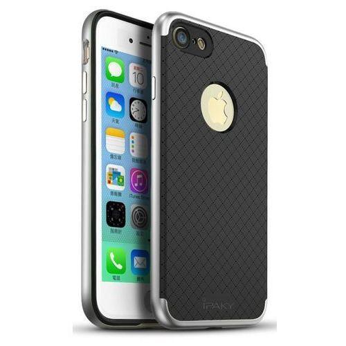 Ipaky Etui premium hybrid iphone 8 plus/7 plus silver + szkło (5903068630798)