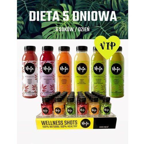 Dieta 5 dniowa VIP / Dieta sokowa / Detoks sokowy, 5dni - 30sok +15shot+ 3shot Free