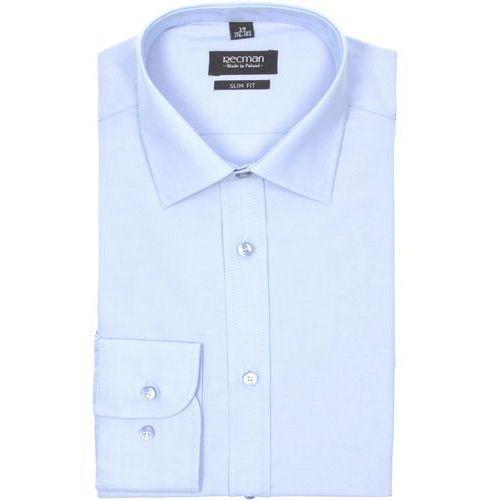Koszula bexley 2364 długi rękaw slim fit niebieski, Recman