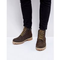 Jack & Jones Nubuck Boots With Warm Lining - Brown