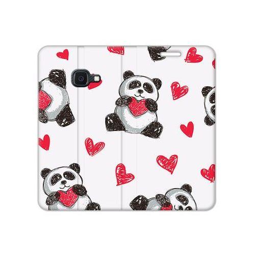 Etuo flex book fantastic Samsung galaxy xcover 4s - etui na telefon flex book fantastic - panda z sercem