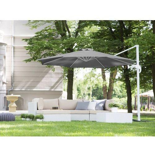 Beliani Parasol ogrodowy Ø300 cm antracytowy/biały savona (4260602370987)