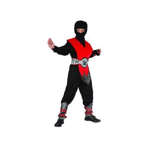 Kostium Ninja czerwony lux - S - 110/120 cm, kolor czerwony