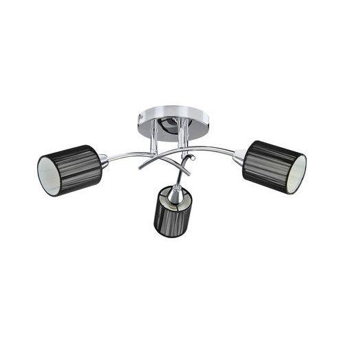 Plafon lampa sufitowa Rabalux Veda 3x9W E14 chrom / czarny 6003, kolor Czarny