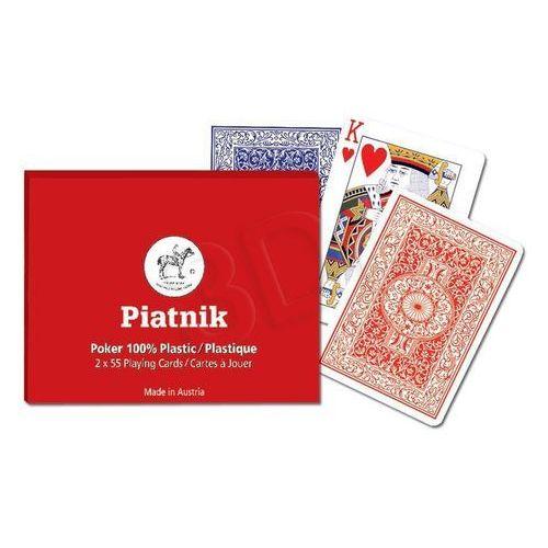 Piatnik Karty do gry 2 talie, poker plastic (9001890236037)