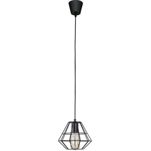 Lampa wisząca druciana zwis żyrandol diament TK Lighting Diamond 1x60W E27 czarna 696, kolor czarny