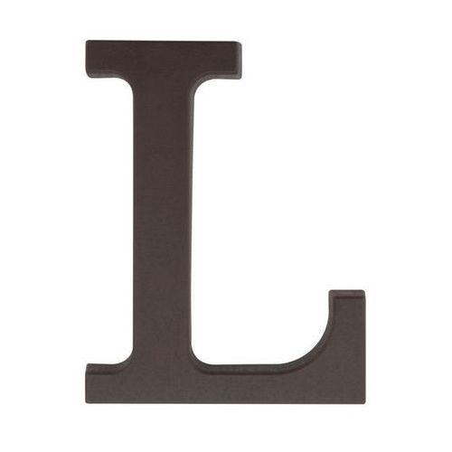Litera L wys. 9 cm PVC brązowa (5901912823327)
