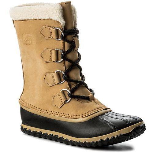 Śniegowce SOREL - Caribou Slim NL2649 Curry/Black 373, w 3 rozmiarach