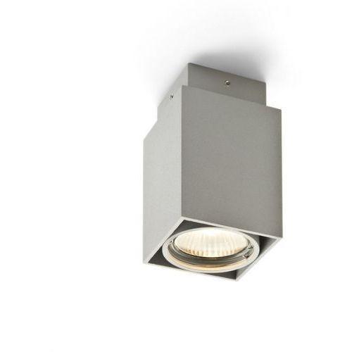 Redlux Lampa sufitowa ex gu10 kwadrat srebrnoszara, r10164