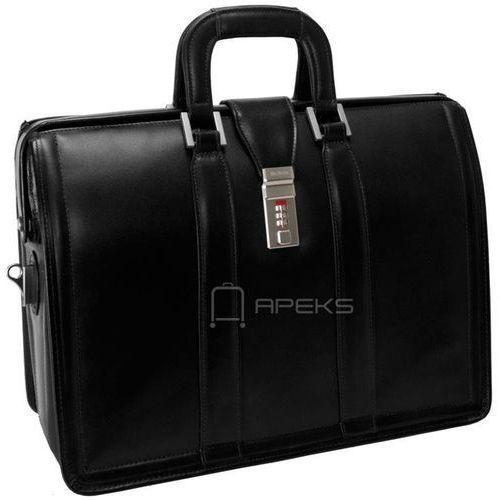 """McKlein Morgan skórzana teczka / torba na ramię na laptopa 17"""" - czarny (6421548334572)"""