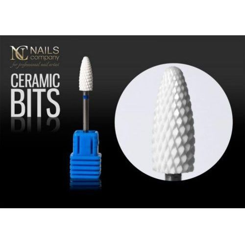 Frez ceramiczny do żelu i akrylu kształt stożek nails company marki Nc nails company