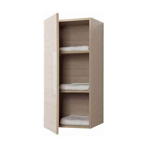 Meble łazienkowe - szafka wisząca łazienkowa beżowa - bilbao marki Beliani