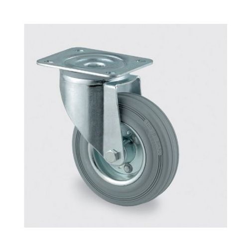 Tente Koła przemysłowe z maksymalnym obciążeniem 70-205 kg, szara guma (4031582303483)
