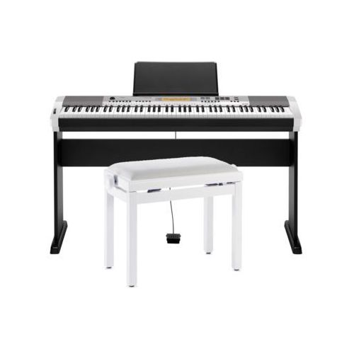 CASIO CDP-230 SR - Pianino cyfrowe + Statyw + ława stagg + Instrukcja PL (fortepian, pianino)