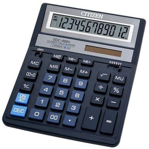 Kalkulator biurowy CITIZEN SDC-888XBL, 12-cyfrowy, 203x158mm, niebieski, CITIZEN SDC-888XBL BLUE